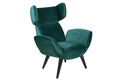 AC Design Furniture Bianca Lehnstuhl, Stoff, Flaschengrün, 90 x 88 x 109 cm
