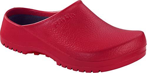 BIRKENSTOCK Unisex-Erwachsene Super Birki Damen und Herren Clogs, Arbeits-Clogs,Pantoletten mit Kork-Latex-Fußbett, Sandalen Rot, EU 40 -