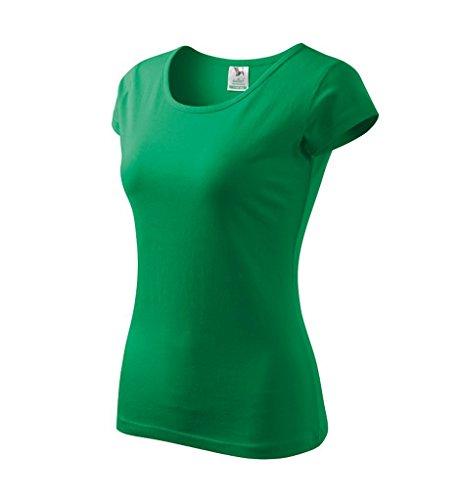 Dress-O-Mat Damen T-Shirt Shirt rundhals klassisch Tailliert grass grün