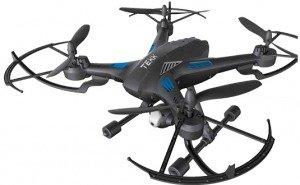 TEKK FURY 4rotori 1200mAh Nero drone fotocamera