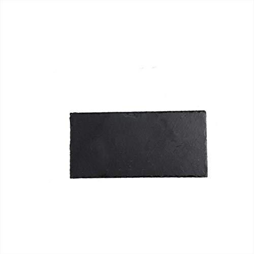 KEOA 1 Stück Schieferplatte, Black Slate Home Sushi Tray Westernfutter Display Platter Barbecue Platte,25 * 12cm Black Sushi Tray