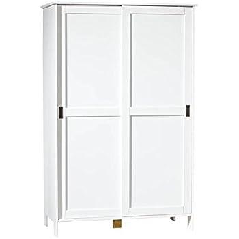 inter link armoire penderie contemporaine portes coulissantes certifi e fsc pin massif vernis. Black Bedroom Furniture Sets. Home Design Ideas