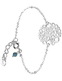 Skalli - LM06VA Turquoise - Limonade - Bracelet Chaine Femme - Laiton - Résine - 15 cm