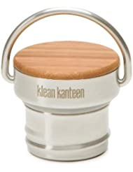 Klean Kanteen Flaschendeckel Bambus Cap Poliert - Set de mantenimiento para acampada, color plateado