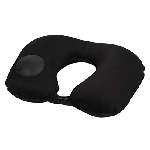 Maleya Health Neck Pillow Press Aufblasbares U-Kissen Outdoor-Reisekissen Kissen Nacken und Kinn stützendes Reisekissen - unterstützt den Kopf, Hals und das Kinn. -