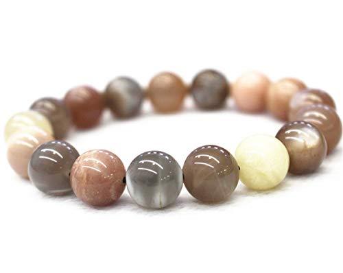Natürliches Mondstein-Armband, gemischte Farben, Mondstein-Armband, Perlen-Armband, Schmuck Armband, Großhandel 6mm 9 inch
