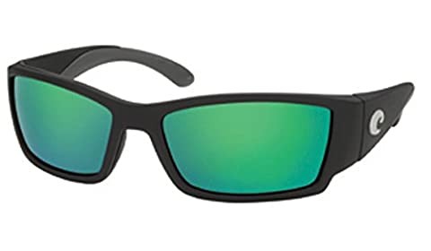 Costa Del Mar Sunglasses - Corbina- Glass / Frame: Black Lens: Polarized Green Mirror Wave 580