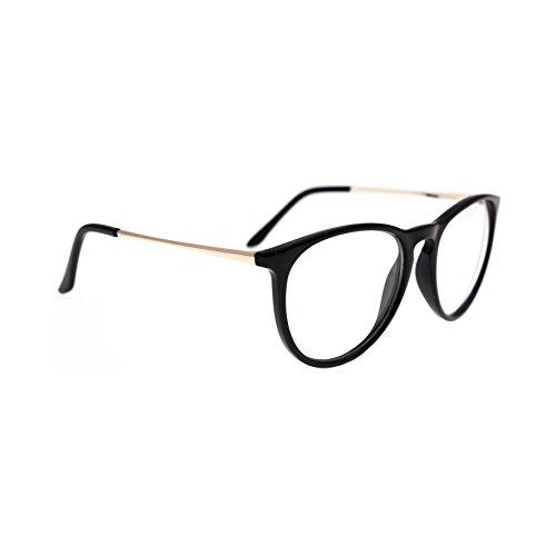 Lunettes Noir Transparent Nerd Neutral Diverses Modèles Marque Isurf Eyewear (aviator Noir) cTtrX