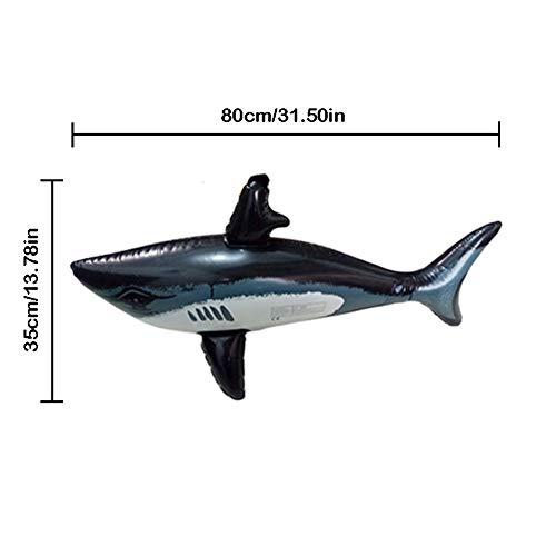 Kostüm Wal Aufblasbarer - Adminitto88 Aufblasbares Haifischspielzeug mit Pool-Fähigkeiten und aufblasbaren Karussen, EIN aufblasbarer Wal und DREI aufblasbaren Hai, 24 Zoll für aufblasbare Spielzeug