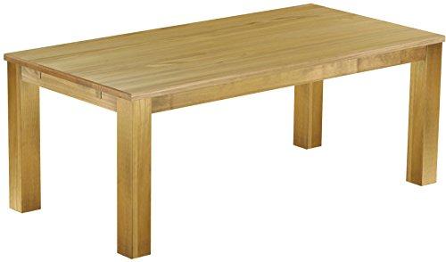 Brasilmöbel® Tisch 200x100 Rio Classiko - Brasil Pinie Massivholz - Größe & Farbe wählbar - Esszimmertisch Küchentisch Holztisch Echtholz - Esstisch ausziehbar vorgerichtet für Ansteckplatten