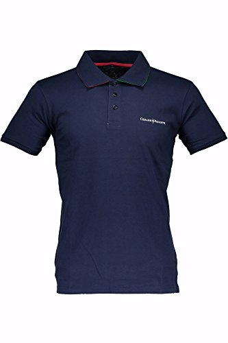 Polo T-shirt Maniche Corte Uomo Cesare Paciotti Men Short Sleeves CP14PS#1 (M, BLU)