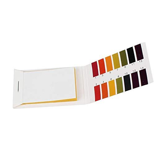 GreatFunpH 1 bis 14 Testpapierbuch 80 Streifen, Universal-pH-Testpapierstreifen pH-Teststreifen, PH-Tester Tropical Aquarium Kaltwasser-Aquarium-Testkit