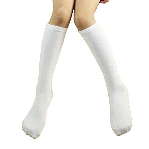 Hpory Unisex Baby Kleinkinder Kinder Mädchen Jungen Baumwolle Knie Hohe Dreifacher Streifen Lange Strümpfe Schlauch Socken Sport Sockenfür 1-3 Jahre Alte Kinder (Knie-hohe Leichte Socken)