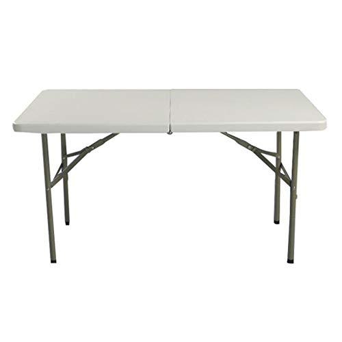 MYAOU&Laptop desk Klapptisch rechteckige Kunststoff Falten in der Hälfte 400 kg Tragfähigkeit mit Tragegriff im Freien weiß (152 * 76 * 74 cm)