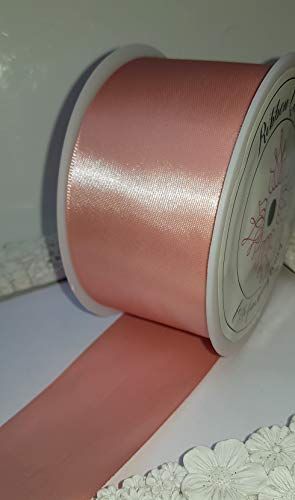 Ribbon Queen Satinband, doppelseitig, 25 m x 50 mm breit, Weihnachtsgeschenk, Hochzeitsgeschenk. We are a British Company, Dusty Pink Rose/Nude/Pale Peach, 50 mm x 25 m -