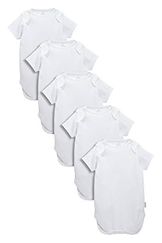 next Homme Lot de cinq bodies à manches courtes blancs