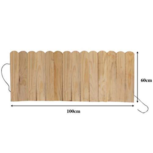 JIANFEI-weilan Holz Zaun gartentor Gartenzaun Steckzaun Beet Kante Anlage Leitplanke Außendekoration wasserdicht, 4 Farben, 5 Größen Unterstützung Anpassung (Color : Wood Color, Size : 100x60cm)