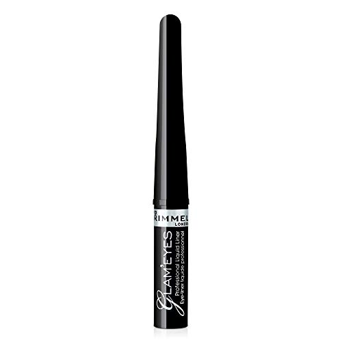 Rimmel Glam'eyes Professional Liquid Eye Liner, Black Glamour (3.5 ml)
