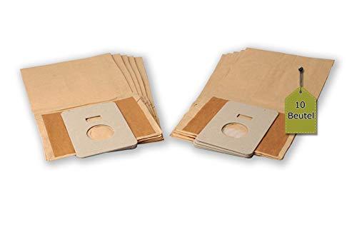 eVendix Staubsaugerbeutel passend für GoldStar Turbo 3000 | 10 Staubbeutel + 2 Mikro-Filter | kompatibel mit Swirl H28