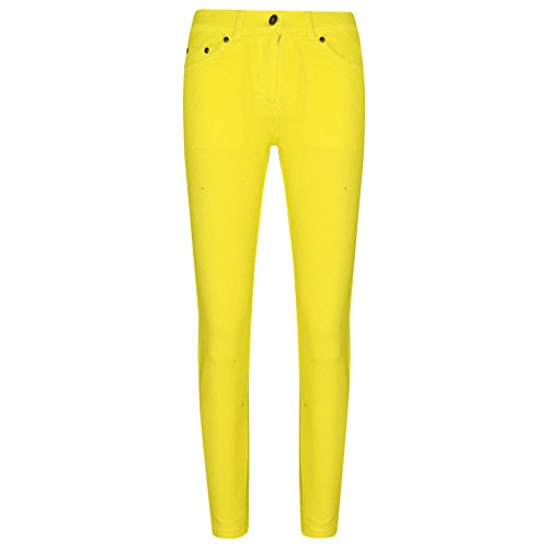 A2Z 4 Kids® Girls Skinny Jeans Kids Stretchy Jeggings Denim Fit Pants - Girls Jeggings 061 Lemon 7-8