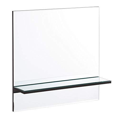 Espejo de Cristal Plateado con 1 balda Minimalista para Cuarto de baño Fantasy - LOLAhome