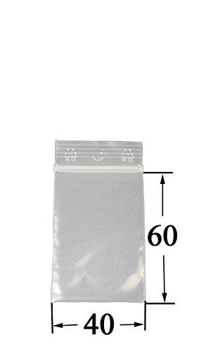 Weedness 100 x Baggys Zip Beutel 4x6 cm - Schnellverschluss Tütchen Druckverschluss Plastikbeutel Transparent Lebensmittelfreundlich