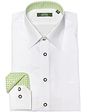 arido Trachtenhemd Herren langarm 2737 256 40 40 weiß grün