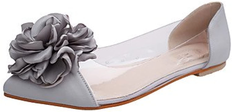 RTRY La Mujer Sandalias Jelly Zapatos Casual Verano Pvc Jalea Caminar Zapatos De Tacón Plano Flor Negro Gris Rubor...
