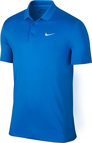 Nike uomo Victory LC Solid polo Photo Blue/White