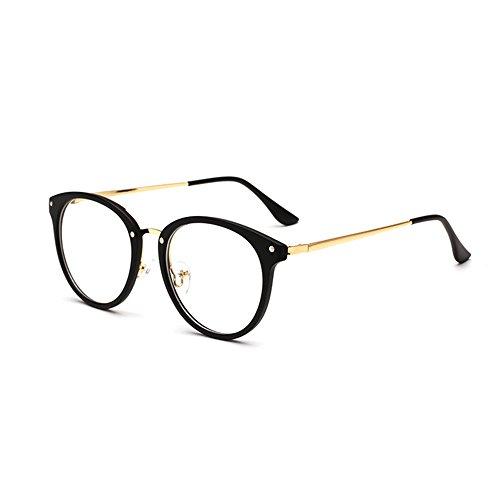 Forepin Brille für Damen Herren reg; Nerdbrille Retro Unisex Klare Linse Gläser Dekobrille Klassisches Brillengestell Glasses Frame