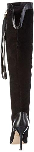 Buffalo 632x-058 Nappa Kid Suede, Cuissardes et bottines à doublure froide femme Noir - Schwarz (BLACK925)