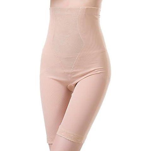 YY Pantaloni/Mutandine vita Cincher poliestere Spandex ricamo mandorla lingerie sexy shaper, flesh-xxl