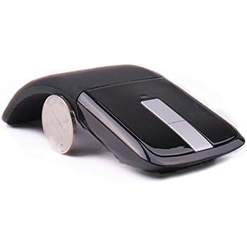 Ratón plegable 2.4GHz Arco Ratón óptico inalámbrico USB Mini Ratones ultradelgados para computadora portátil Pad Laptop PC