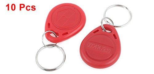 10 x EM4100 125KHz RFID Door Control Keypad ID Card Key Fobs Red