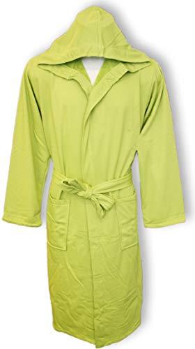 Bademantel für Damen mit Kapuze Perlarara Größe S - M - L - XL - XXL Neuheit Baumwolle Frottee Lacoste Salvaspazio M/L - 46/50 grün