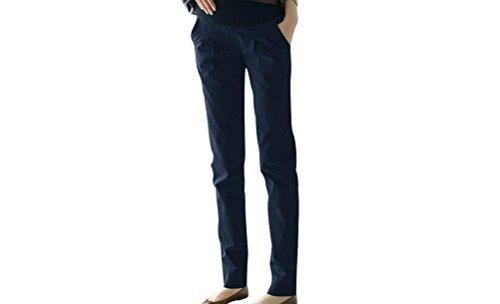 Feicuan Seasons Enceinte Pantalons Femme Pregnant Trousers Thin Pants Navy blue