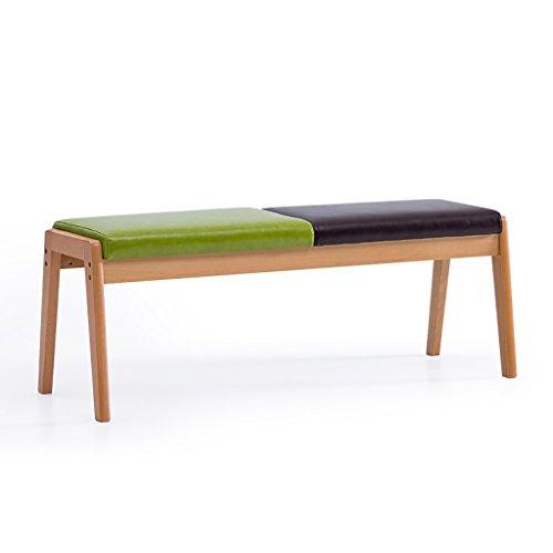 Chaise de banc en bois créative longue chaussure banc à manger chaise fin de lit tabouret à manger table banc ménage en cuir tabouret long tabouret (Couleur : Style1)