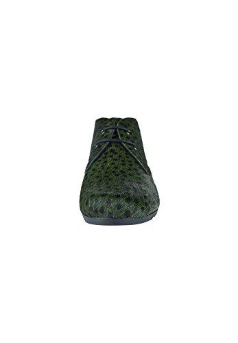 Maruti Women's Ginny Women's Brown-Black Chukka Boots Leather small dots green black