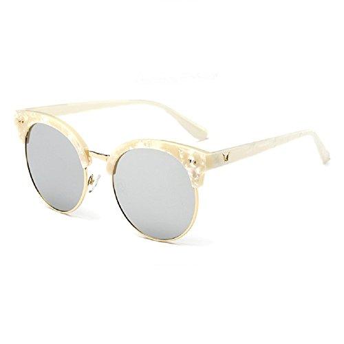O-C Damen Sonnenbrille Silber White frame,silver lens