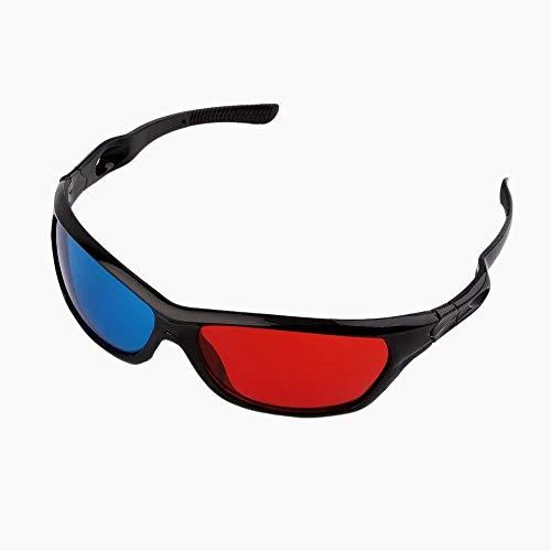 Snner Redblue 3D-Brille einfache Art-3D-Brille 3D Movie gameExtra Stil Upgrade-Bent-Rahmen 1pc