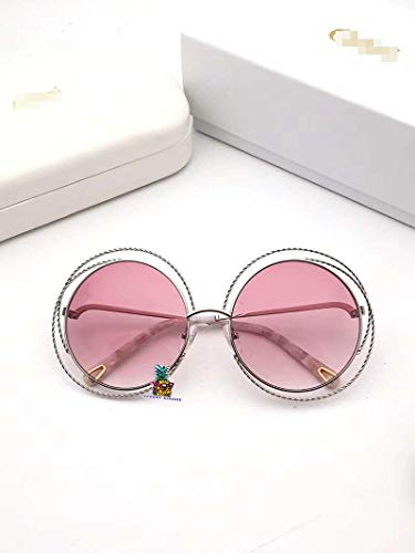 Womens/Ladies Shield Rimless Gradient Lenses Sunglasses/Eyewear for 114ST-silvery pink