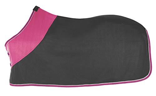 PFIFF 100983 Polarfleecedecke Fleecedecke Pferdedecke Abschwitzdecke, Grau-Pink, 125