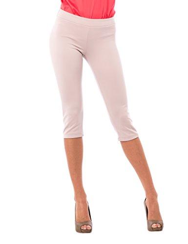 Solo Capri - Pantaloni 3/4, Donna, Beige, M