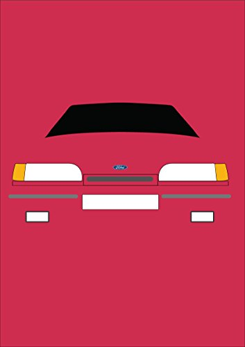 Retro Motor Company - Tarjeta de felicitación Retro Ford Granada MK3