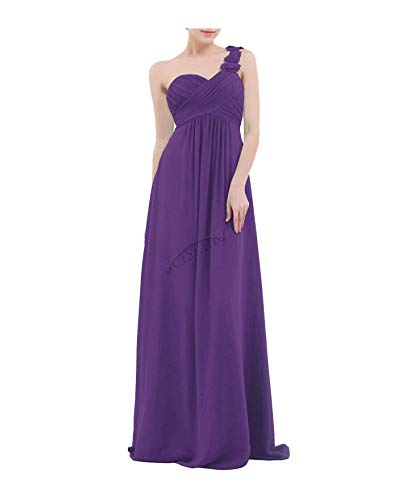 QSAWAL& Women Long Formal Prom Dress Cocktail Party Ball Gown Evening Bridesmaid Dresses #3 Purple 4