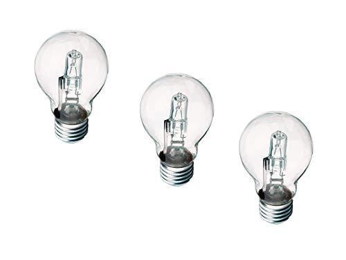 TRIO lot de 3 ampoules éco-halogène e27 28 w 370 lm, 2700 k 966–28