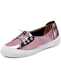 3714982eaf38 Eeayyygch Damen Schnürschuhe Loafer Casual Flats Schuhe (Farbe   Rosa, ...