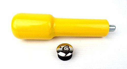 EDESIA ESPRESS - Ersatz-Griff für Siebträger aus Kunststoff - M12-Gewinde - gelb