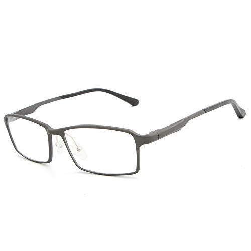 Aluminium-Magnesium Ultra-hellblau Flache Spiegel Brillengestell Mode Hipster Männer Brille (Color : Gun)