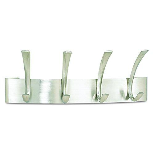 Safco - Appendiabiti da parete Curve con 4 ganci - Argento